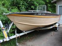 17 foot 1985 Smokercraft with a 50 HP Evinrude motor