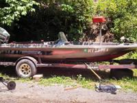 1979 17ft maiden craft bass boat ok shape will need