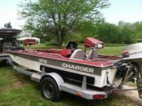 17ft BASS BOAT 115 Evinrude motor with power trim 24