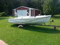 17ft fiber glass boat. Trailer needs tires. You remove