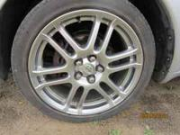 "17x7 5x100 Wheels in very nice shape. No ""curbing"", a"