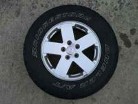 "Aluminum 18"" wheels that are 5 on 5 bolt pattern. No"