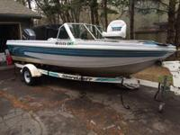 "1994 Crestliner Phantom 186 (18'6"") fish and ski boat"