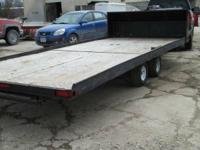 "18' 2""X 90"" Tandem axle trailer with brand-new tires"