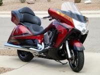 2012 Victory Vision, Sunset Red, less than 1,600 miles,