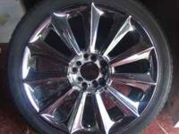 "For sale: 4 18"" Chrome Rims. These are off of my VW GTI"