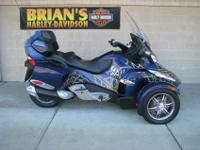 2010 Can Am Spyder RT-S SE5 finished in Orbital Blue.