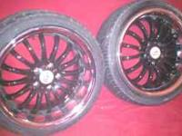 for sale are my 18' black and chrome aza staggered
