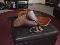 Used English Saddle all purpose set. Great Christmas