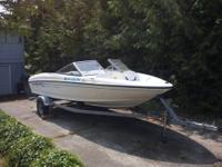 This 2006 Bayliner 175 is in excellent condition inside
