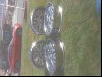 4 Crome Benchi rims. Came off my Cadi. Required them