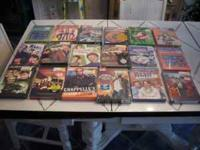 FOR SALE A LOT OF 18 BRAND NEW NEVER OPENED DVDs. MANY
