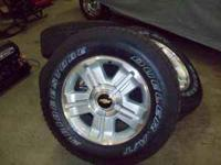 Brand new set of 4 Tires and Wheels for a Chevy Truck