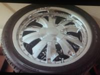 "18"" chrome rims 5 lug ""universal"" just came off 2008"