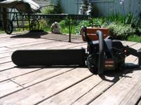 "18"" craftsman Chainsaw with box runs good. Please call"