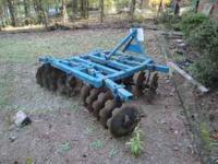 18 disk king harrow. good heavy harrow in good