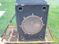 "Speaker cabinet with 18"" EV speaker inside. Kinda rough"