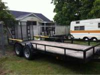 18 ft. Utility trailer for sale. Electric brakes.