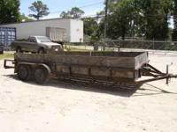 18 foot low boy trailer 83 inches wide 4 foot sides new