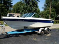 1977 Cobalt.. 18 ft. Boat with trailer. It has a V8