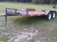6 x 18 ft trailer including dove tail. Heavy duty 1/4
