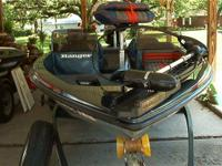 This is a beautiful ranger bass boat with a 150 XP