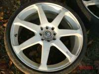 a set of 18 inch white wheels for any 4 lug car mainly