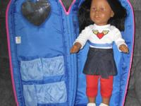 "Carefully used Our Generation 18"" doll carrier and"