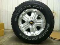 For sale, like new 4, 18 inch silverado factory wheels