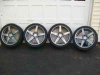 Bolt pattern 5x114.3. 4 rims with no tires offset is