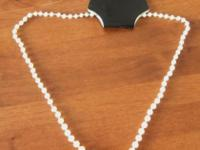 18 inch Vintage Plastic Necklace Pearl Style And Shade.