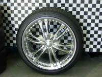 18 inch chrome wheels with tires. tires have 90% tread