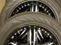 These are a set of 18 inch MKW 105 Wheels with tires.