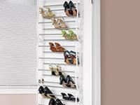 Jumbo over-door shoe rack holds 36 pairs of shoes! Lets