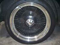 "I have a set of 18"" knock off wire wheels with tires"
