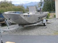 1996 18'Marion Boat: welded aluminum built open Jon.