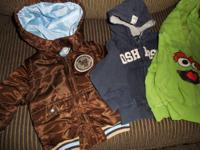 18 months lot all for 35.00 1Brown winter jacket