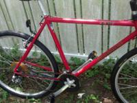 ". I have a 18"" Performance X-107 hybrid bike for sale."