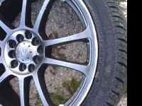 "Four 5 lug 18"" rims and tires for sale. The only"