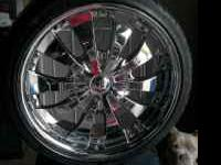"18"" rims $700. obo new tires. 5 lug. for more info call"