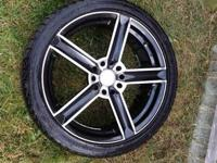 "SET OF 4 NICE 18"" RIMS  COMES WITH TIRES LIKE 60% TREAD"