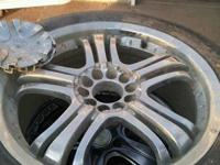 "18"" rims for sale most the tread is excellent, one tire"