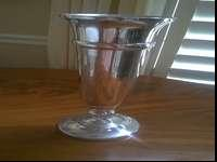 18 silver wedding vases for rent. They are 13 1/2""