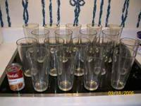 18 tall drinking glasses for $10. Like new. Call  off