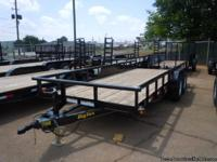 This unit is a 2013 Big Tex 12PI-18BK, 7'X18 heavy duty