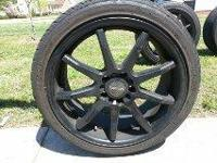 "A set of 4 Tenzor Rims with Tires. Rims are 18"" with"