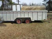 18' long 4' high aluminum sides and floor.Trailer will