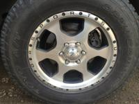 "Used 18"" Motorsport wheels w/ Toyo Open Country tires"