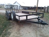 2003 H&H used 18' utility trailer- 16' flat+2'