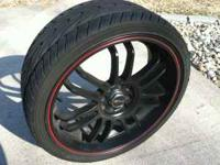 "-GENTLY USED SET OF MSR 18"" WHEELS AND 215/35 R18 KUHMO"